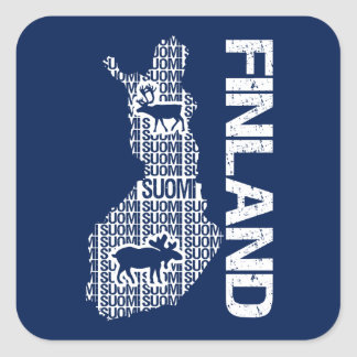 Customizable FINLAND MAP stickers