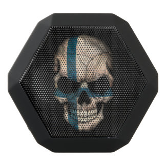 Customizable Finnish Flag Skull Black Boombot Rex Bluetooth Speaker