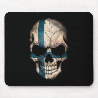 Customizable Finnish Flag Skull Mouse Pad