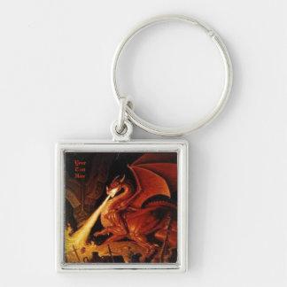 Customizable Fire Dragon Keychain