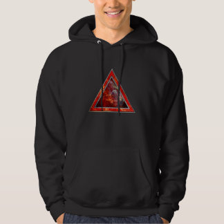 Customizable Fire-Triangle Hoodie