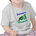 Customizable First Birthday Boy Froggy Shirt