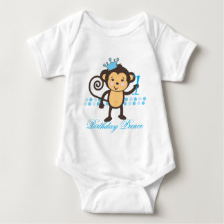 Customizable First Birthday Monkey Prince Shirt