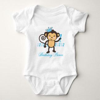 Customizable First Birthday Monkey Prince Shirt