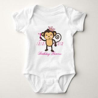 Customizable First Birthday Monkey Princess Shirt