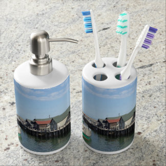 Customizable Fishtown, Michigan Bath Set