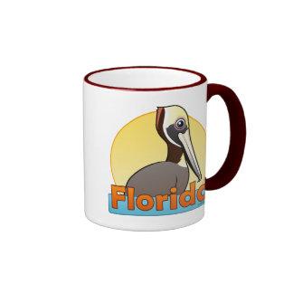 Customizable FL Brown Pelican Ringer Mug