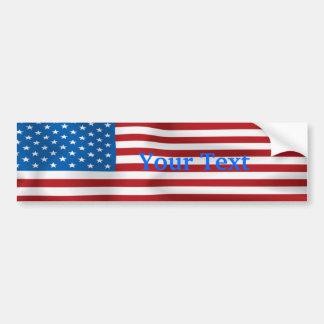 Customizable Flag Bumpersticker Bumper Sticker