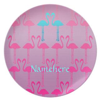 Customizable: Flamingo two Dinner Plate
