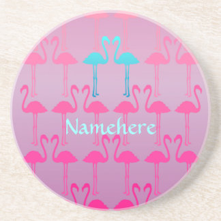 Customizable: Flamingo two Drink Coaster