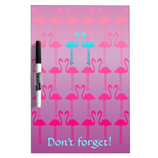 Customizable: Flamingo two Dry-Erase Board