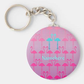 Customizable: Flamingo two Keychain