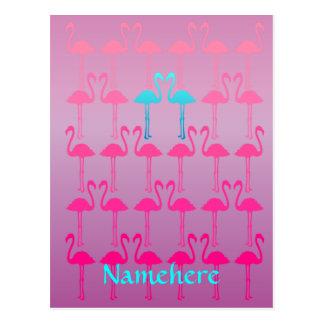 Customizable: Flamingo two Postcard