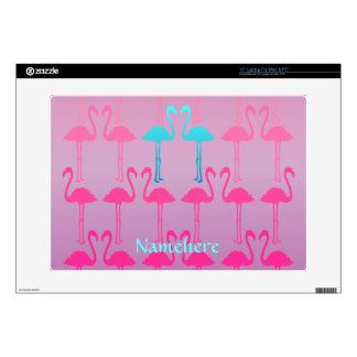"Customizable: Flamingo two Skin For 15"" Laptop"