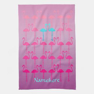 Customizable: Flamingo two Towel
