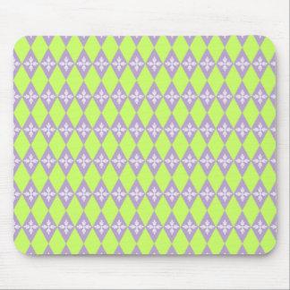 Customizable Floral Diamond Mouse Pad