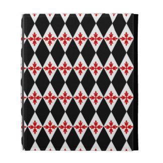 Customizable Floral Diamonds iPad Folio Cases