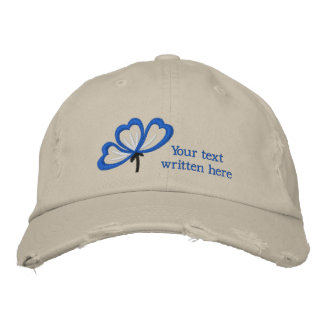 Customizable floral embroidered women's hat