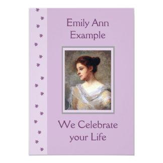 Customizable Floral Funeral / Wake / Memorial Card