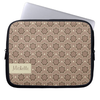 Customizable Floral Pattern Laptop Sleeve