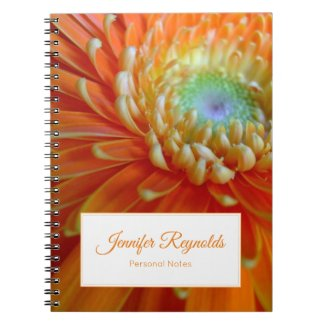 Customizable Floral Personal Notebook