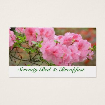 Customizable Floral  Pink Azalea Business Card by whatawonderfulworld at Zazzle