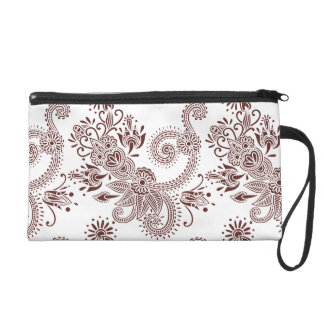 Customizable Floral & Scroll Pattern Wristlets