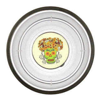 Customizable Floral Sugar Skull Bowl