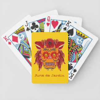 Customizable Floral Sugar Skull Playing Cards