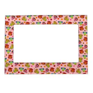 Customizable Floral Sugar Skulls Magnetic Picture Frame