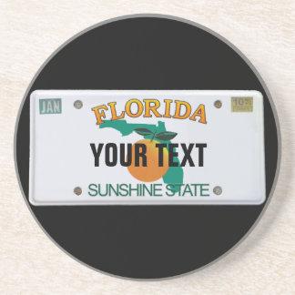 (Customizable) Florida License Plate Coasters