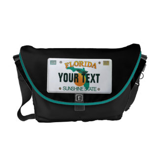 (Customizable) Florida License Plate Courier Bag