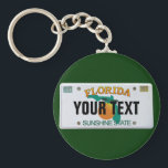 "(Customizable) Florida License Plate Keychain<br><div class=""desc"">Insert your name (or any other text,  as long as it fits). More items with this design:  www.zazzle.com/aura2000/floridalicenseplate</div>"