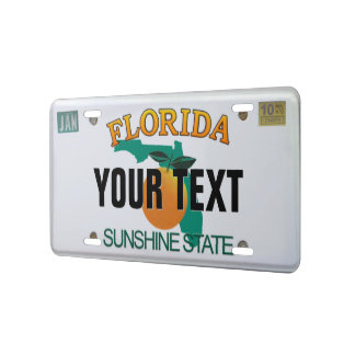 (Customizable) Florida License Plate License Plate