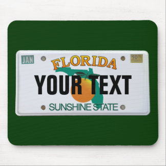 (Customizable) Florida License Plate Mouse Pad