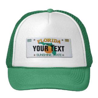 (Customizable) Florida License Plate Trucker Hat