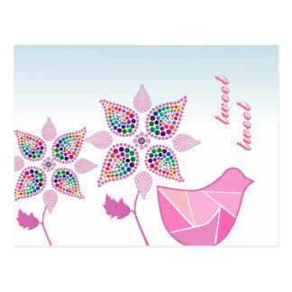 Customizable: Flower bird Postcard