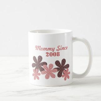 Customizable Flower Mommy Since Mug, Burgundy Coffee Mug