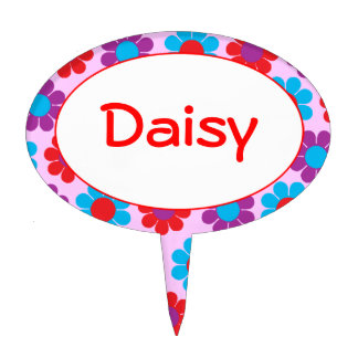 Customizable Flower Power Daisies Cake Toppers
