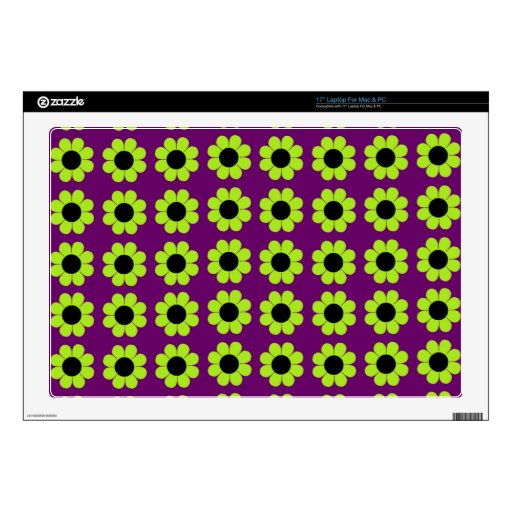 Customizable Flower Power Decals For Laptops