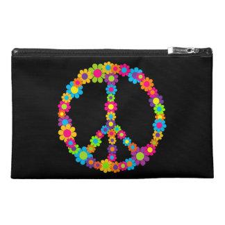 Customizable Flower Power Peace Travel Accessory Bag