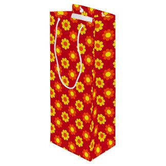 Customizable Flower Power Wine Gift Bag