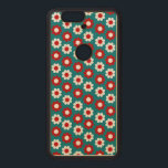 """Customizable Flower Power Wood Nexus 6P Case<br><div class=""""desc"""">Retro flower power case.  Background color and style can be customized.</div>"""