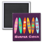 Customizable Flowered Surfboards Magnets