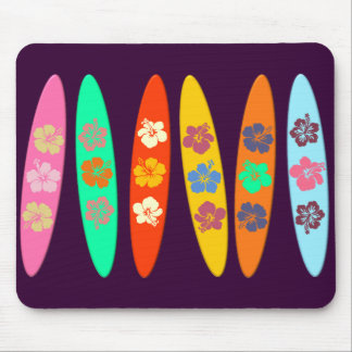 Customizable Flowered Surfboards Mouse Pad