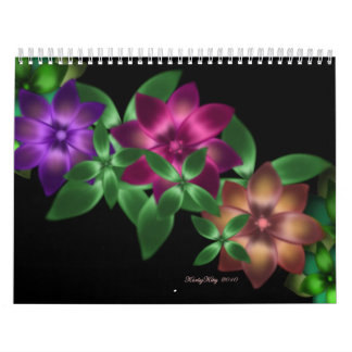 Customizable Flowers and Fractals Calender Calendar