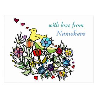 Customizable: Flowery Postcard
