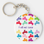 Customizable: Flying piggies Key Chains