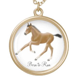 Customizable Foal Born to Run Necklace