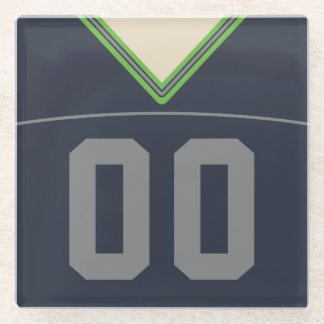 Customizable Football Jersey Coaster, Lacrosse Glass Coaster